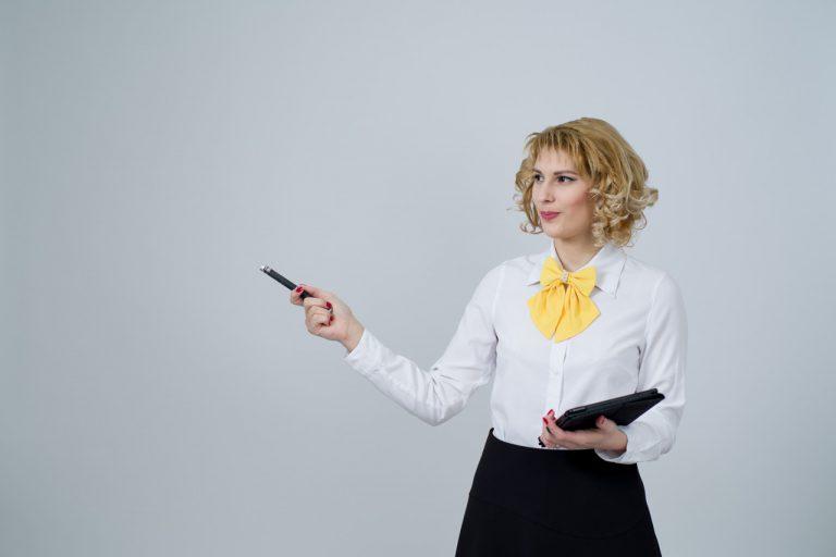 women giving a sales presentation