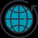 Distribution around the world