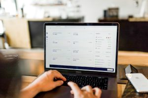 sales metrics and KPIs displayed on a laptop screen